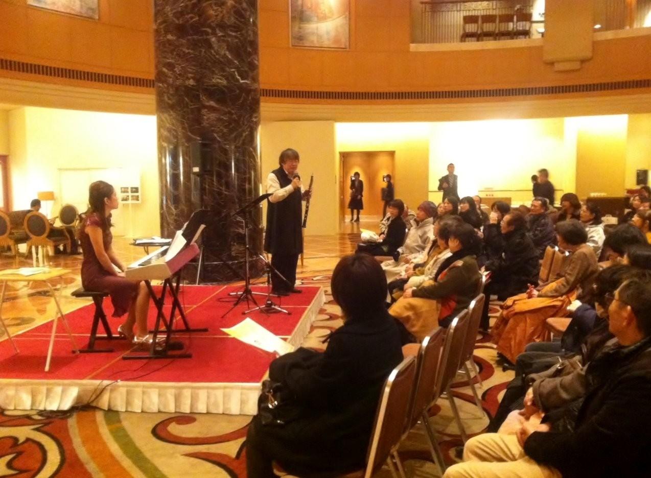 ホテルオークラ福岡、開業15周年 チャリティーロビーコンサート