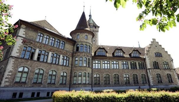 Alte Ansicht des Landesmuseums vom Platzspitz