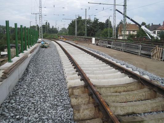 Neubau der Eisenbahnüberführung Friedrichshafner Straße in Leipzig