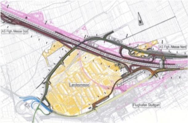 Landesmesse Stuttgart – Äußere Verkehrserschließung