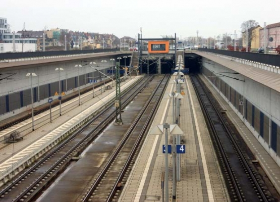 Bahnhof Neu-Ulm - Tieferlegung durch Trogbauwerk