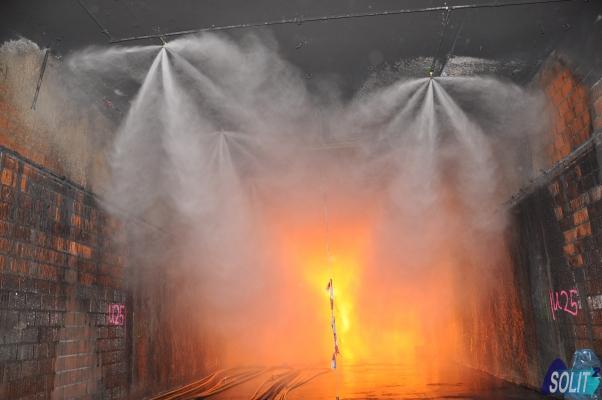 Integration von Brandbekämpfungsanlagen in Tunneln – SOLIT²