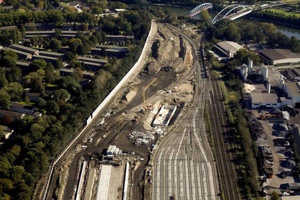 Neubau einer Zugbildungsanlage und KV-Drehscheibe im Bahnhof Duisburg-Ruhrort Hafen