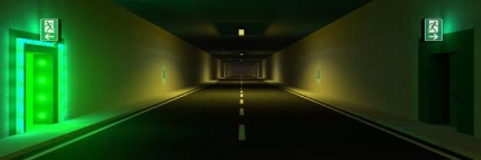 Gestaltung von Notausgängen in Straßentunneln