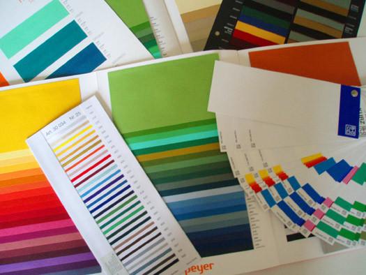 Eine kleine Auswahl der Muster, die bei der Herstellung beachtet werden müssen.