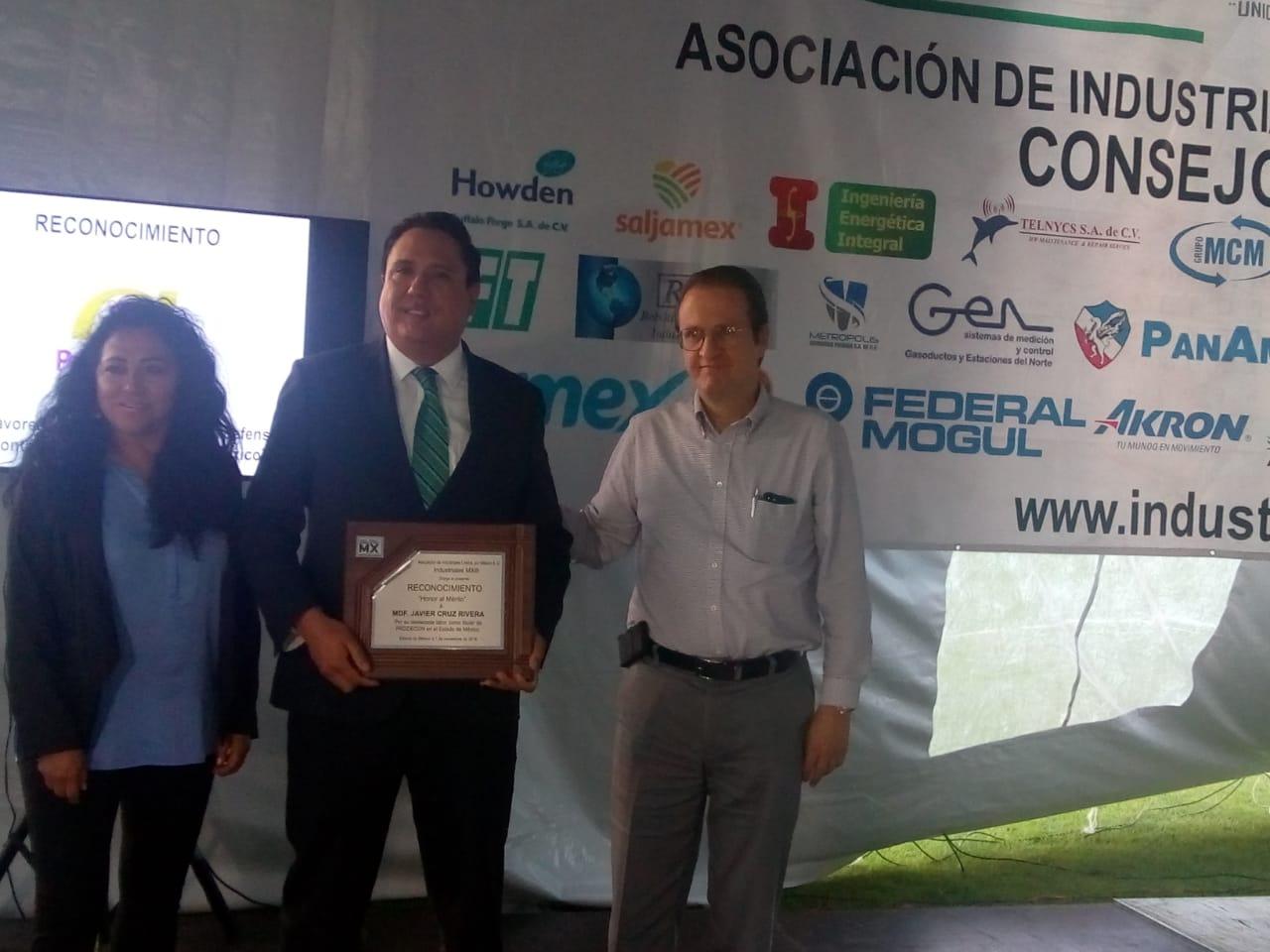 Reconocimiento al MDF Javier Cruz Rivera, Ex titular de PRODECON EdoMéx