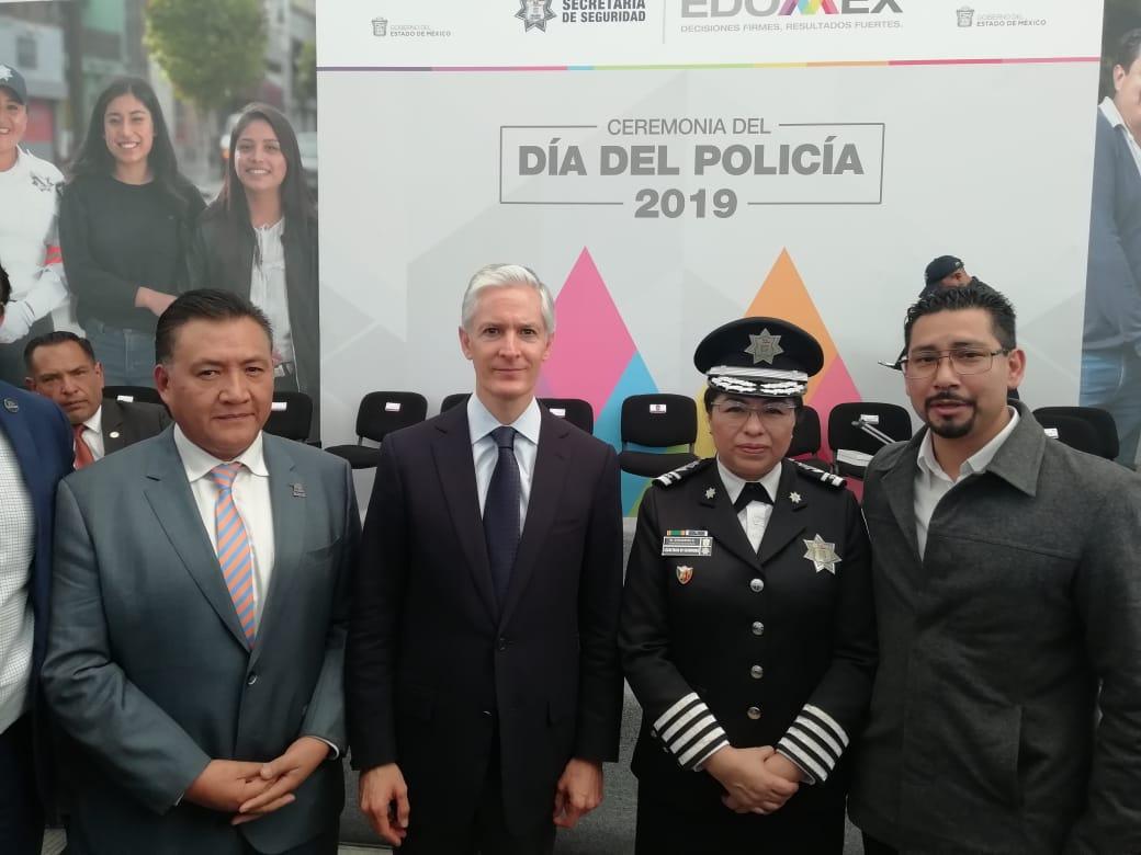 Día del policía con el Gobernador del Estado de México