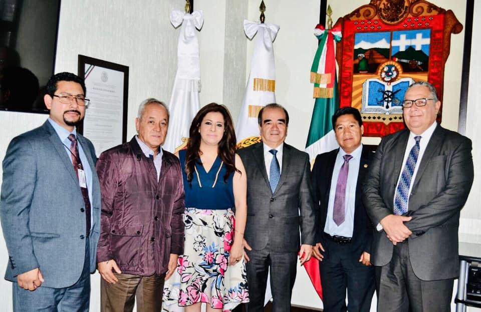Reunión con Presidente de la Junta de coordinación política de la Cámara de Diputados del EdoMéx