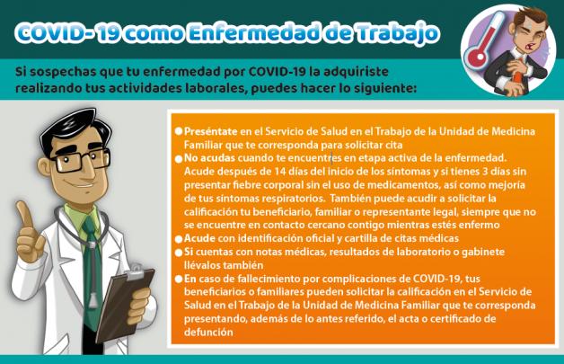 COVID se incluye como enfermedad de trabajo por el IMSS