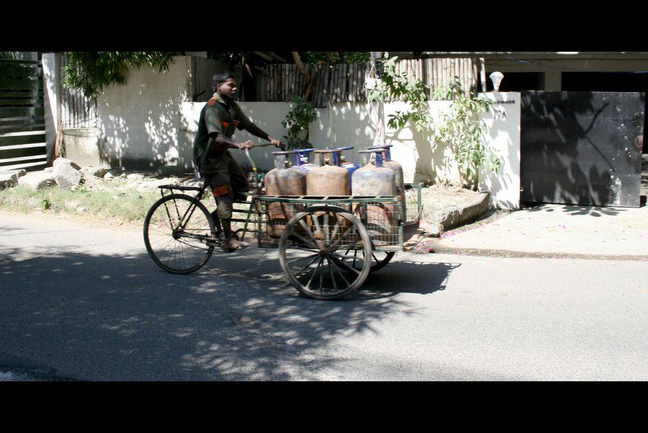Livreur de bouteilles de gaz