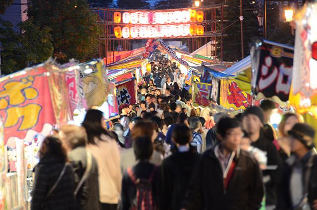 祭り 夏祭り 北海道 栗山町 神社