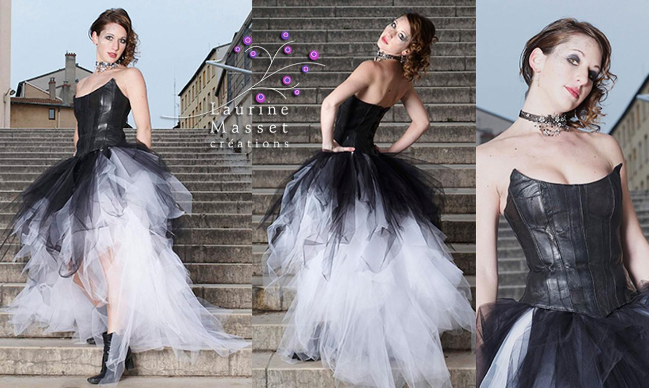robes de mari e en cuir laurine masset couture. Black Bedroom Furniture Sets. Home Design Ideas