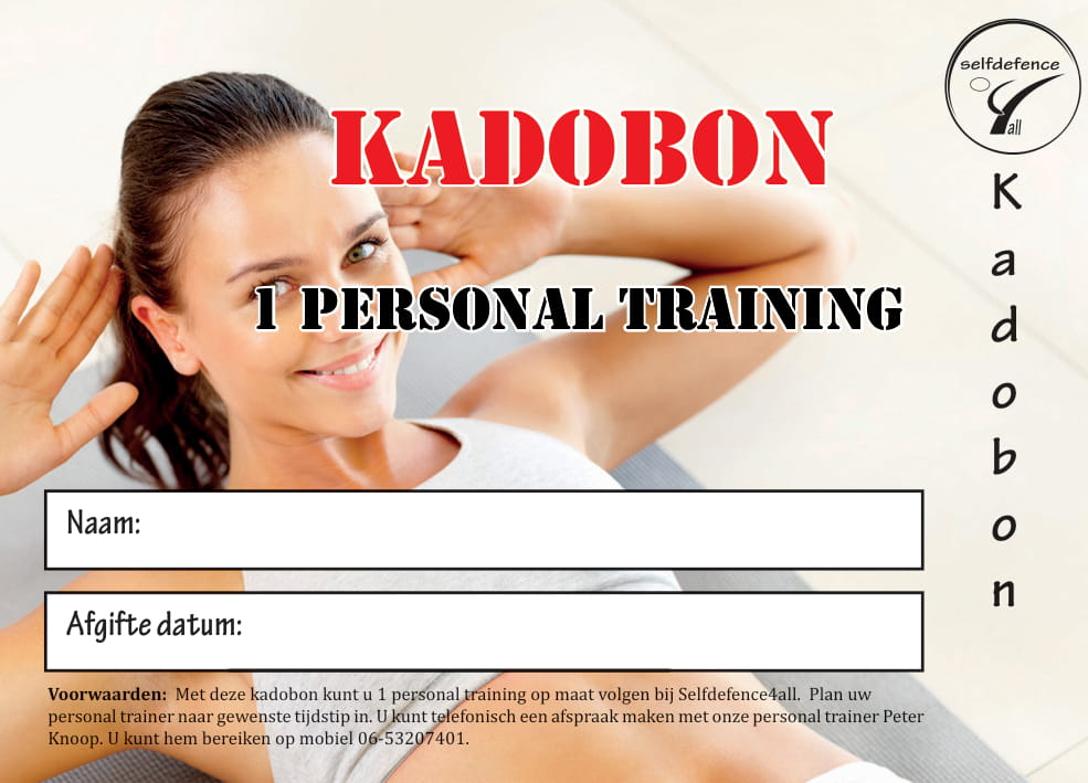 Kadobon Personal Training - Aangeboden door Selfdefence4all