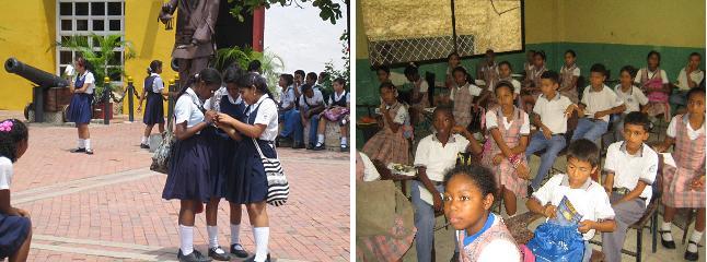 Schuluniformen in verschiedener Ausführungen