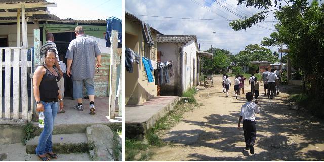 Hier ist die Psychologin mit uns in den Slums unterwegs