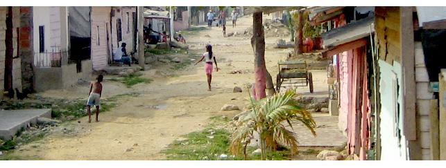 "Blick in das Armenviertel ""Pozon"" in Cartagena"