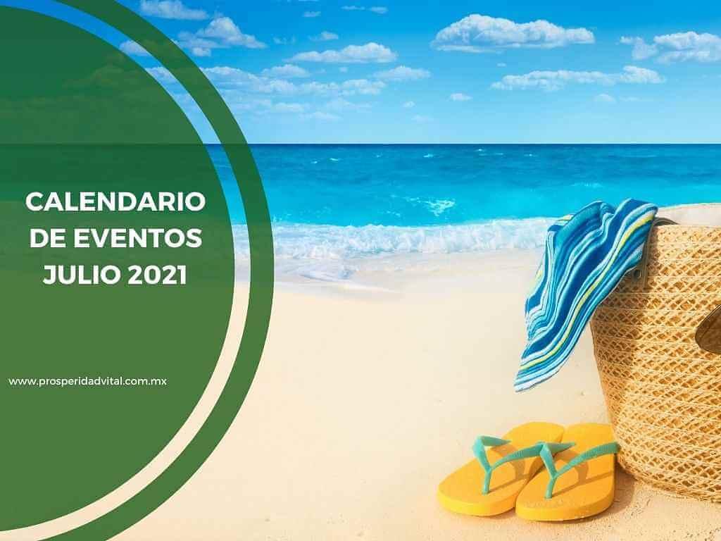 Calendario Eventos NeoLife México y Organización Prosperidad Vital Julio 2021