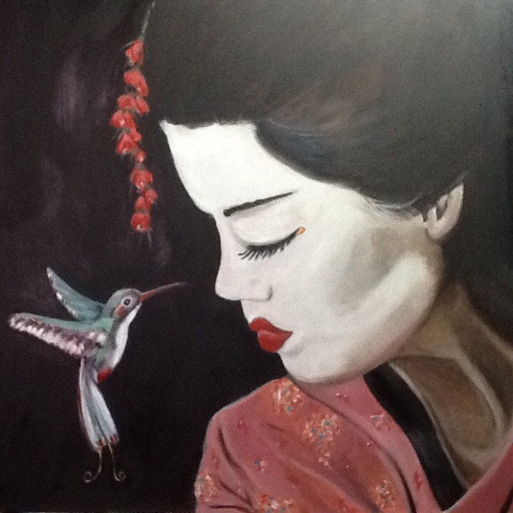 Geisha's bird day