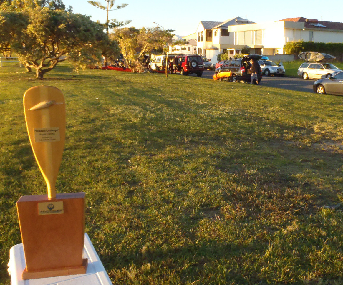 An early start to the Wilderness Systems Kayak Fishing - Straddie Challenge with the trophy up for grabs in the front!