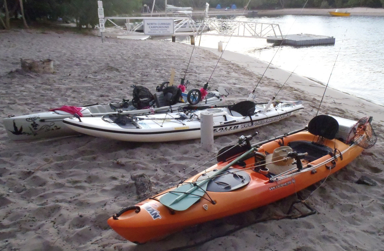 Everyone was well set up for the weekend of kayak fishing!