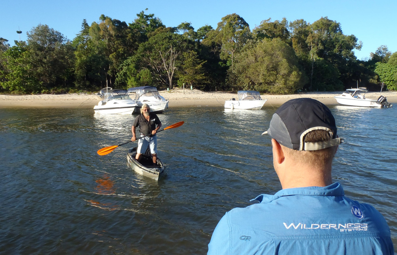 Amazing stability on the Wilderness Systems Commander fishing kayak!