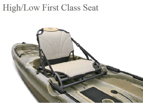 First Class Seat in low position