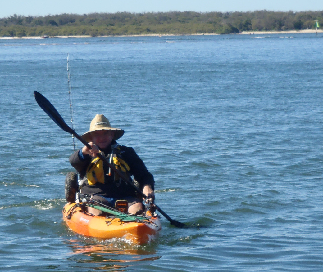The calm paddle across to South Stradbroke Island for the Kayak Fishing - Straddie Challenge!