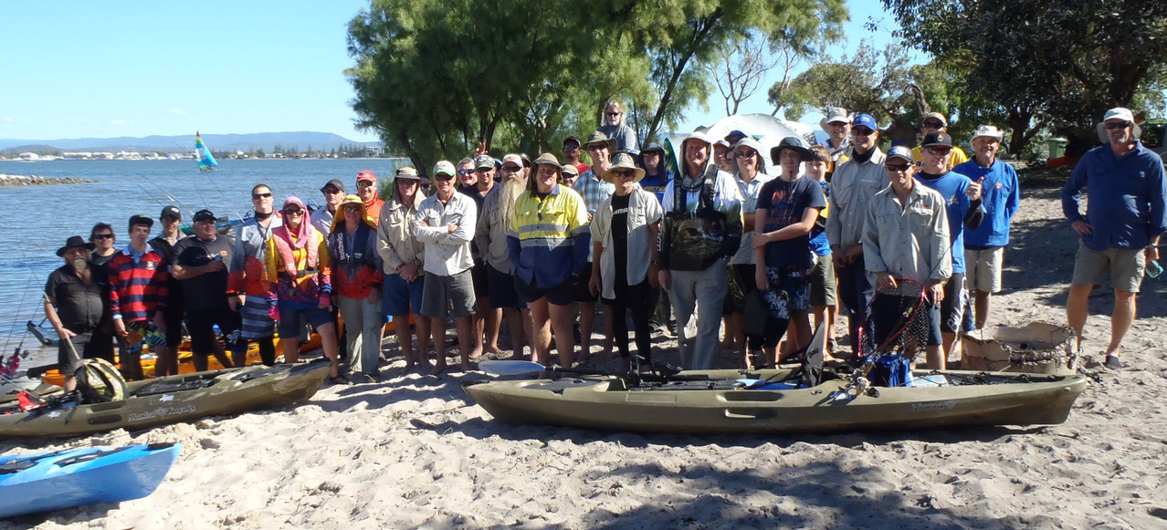 The challengers!!  All the participants of the Wilderness Systems Kayak Fishing - Straddie Challenge May 2013!