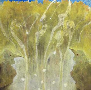 花火のあと S30 岩絵の具 2011