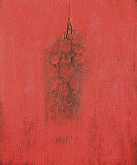 「かじつ」F10 岩絵の具、墨、膠