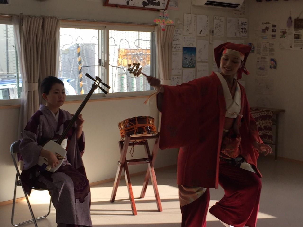 2016/1/11 陸前高田にて。秋田大黒舞。