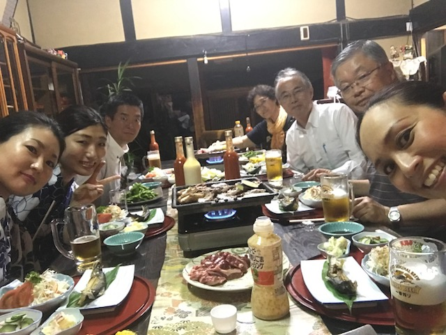 オフショット。遠野の農家民宿「素づくり亭」にて夕食。