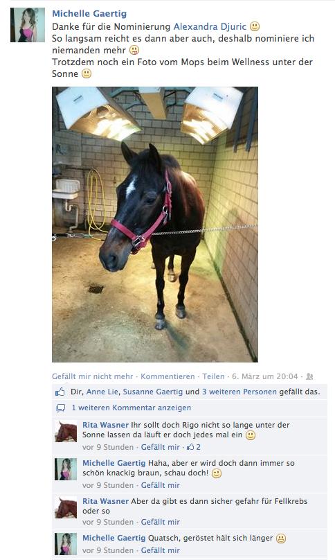 Facebook, März 2014.