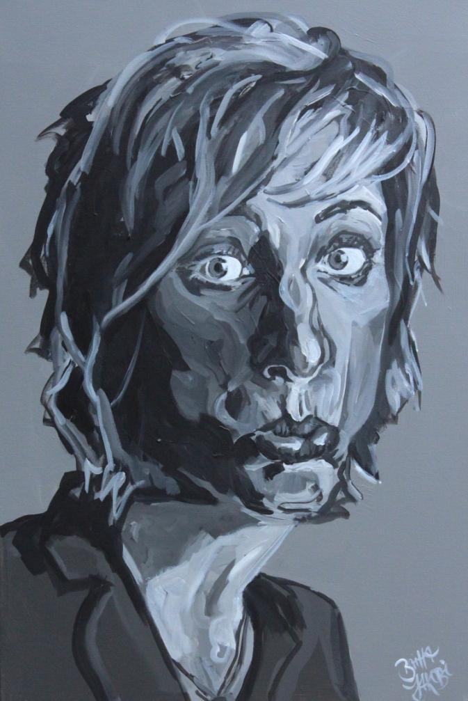 Mal so, mal so, Bild 1, Acryl auf Leinwand, 60 mal 80 cm groß, 2014