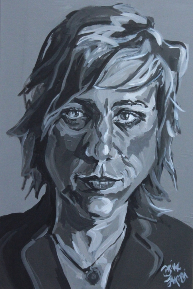 Mal so, mal so, Bild 2, Acryl auf Leinwand, 60 mal 80 cm groß, 2014