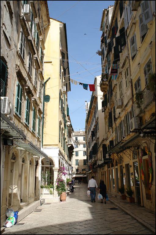 die Altstadt Korfu erinnert stark an Venedig