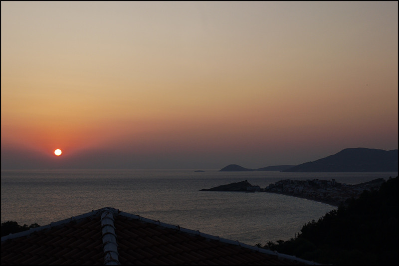 ...bescherte uns noch einen tollen Sonnenaufgang