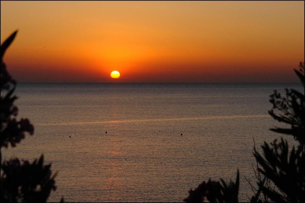 der letzte Morgen bescherte uns einen tollen Sonnenaufgang