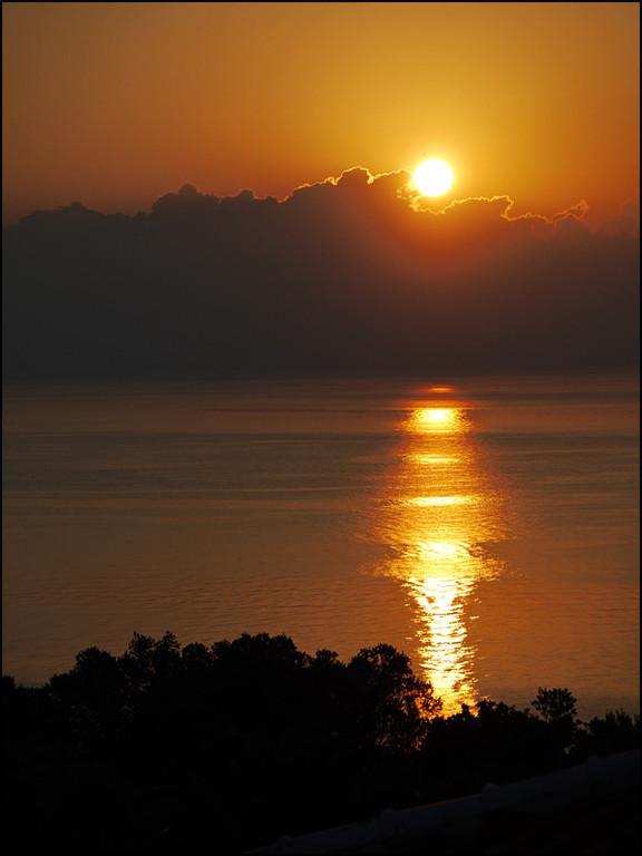 Sonnenaufgang von unserem Balkon