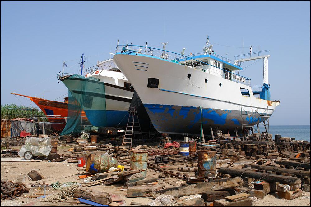 die Werft in 'SKALA PRINOU'
