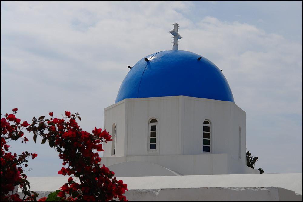 die berühmten blauen Dächer