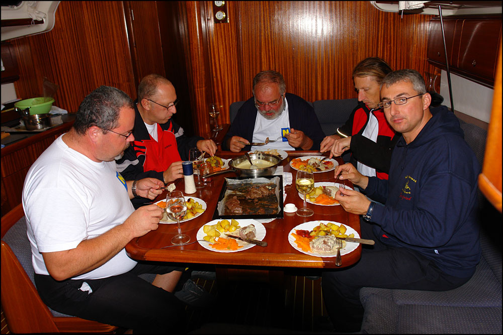 Erwin verwöhnt uns mit Steaks in Gorgonzolasauce