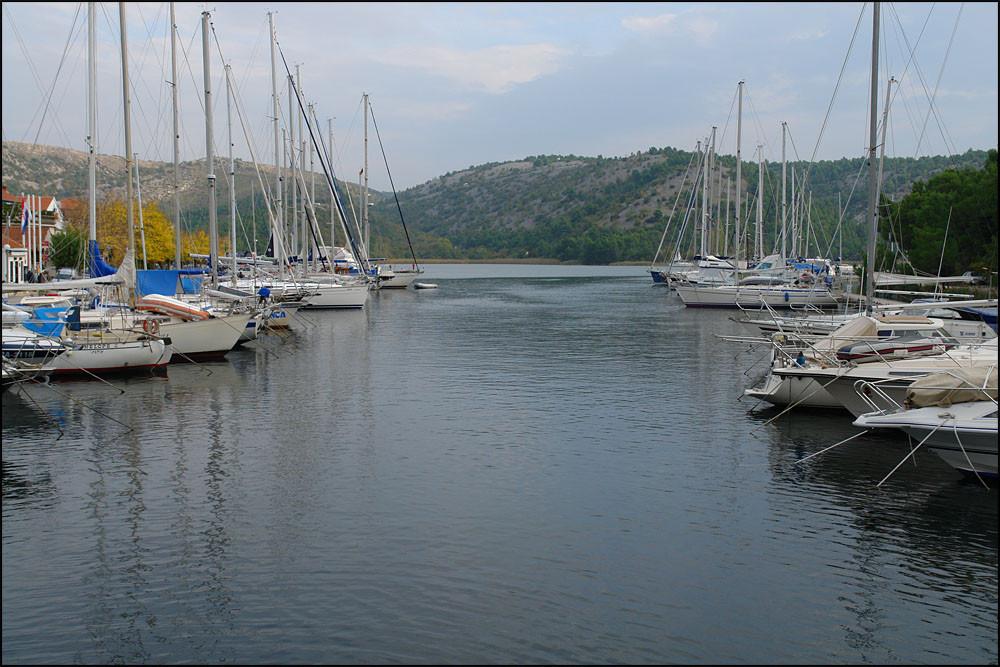 der Hafen von 'SKRADIN'