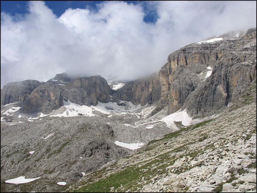 Klettersteig Piz Boe : Bergstation boe bergbahn umkehr bei vallon