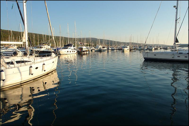 der Hafen von 'Punat'