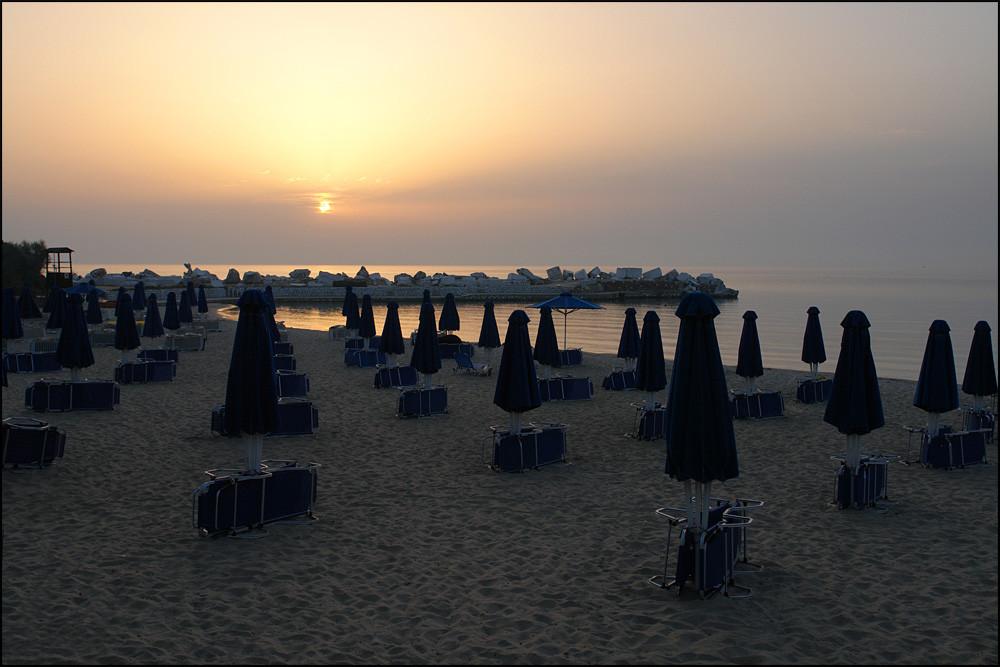 Mittwoch 5.15 Uhr-so sieht man den Strand selten