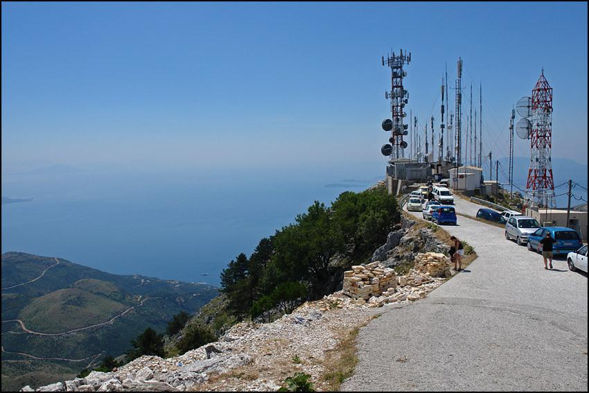 am höchsten Berg der Insel-der 'MONI PANTOKRATOR'