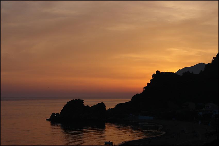 Sunset at Pelekas Beach' (von unserem Balkon)