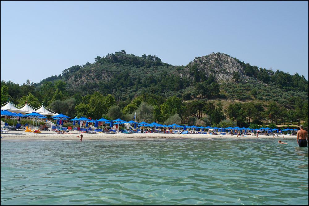 der Strand vom Meer aus gesehen...