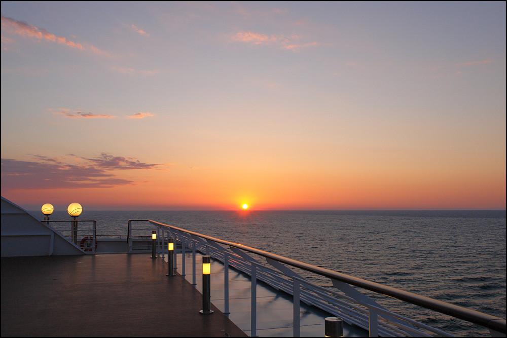 der letzte Morgen bescherte uns noch einen wunderschönen Sonnenaufgang
